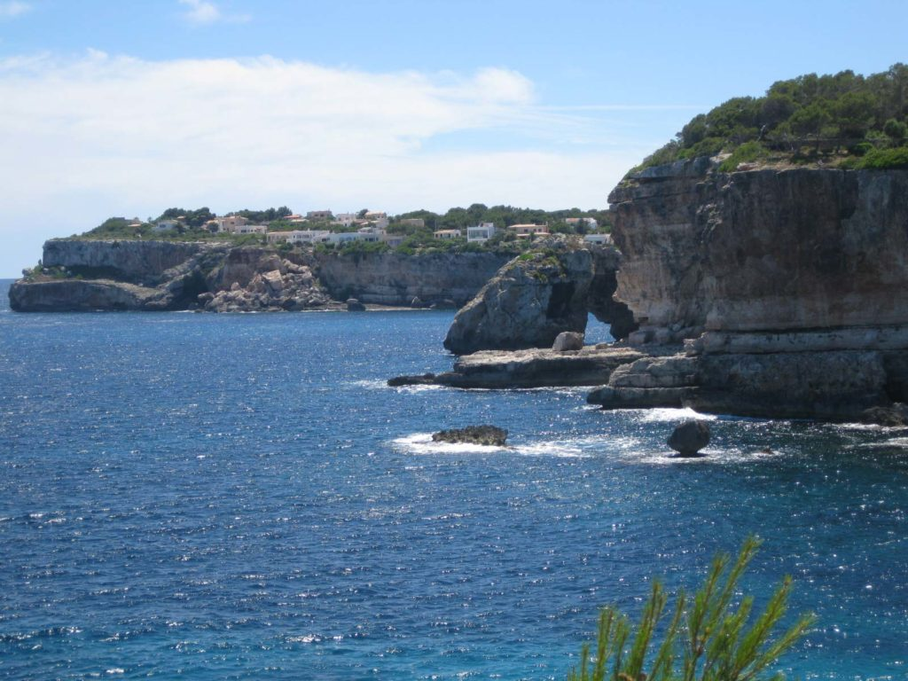 Vistas al mar Cala Santanyi, Mallorca