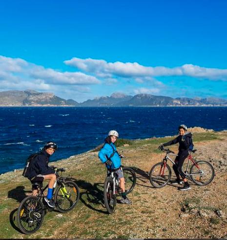 Bicicleta familia Mallorca